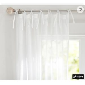 Pottery Barn Kids Solid Voile Sheer Panel Curtains